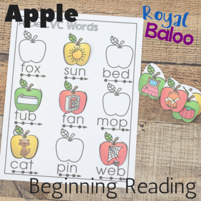 Apple Beginning Reading with CVC Words