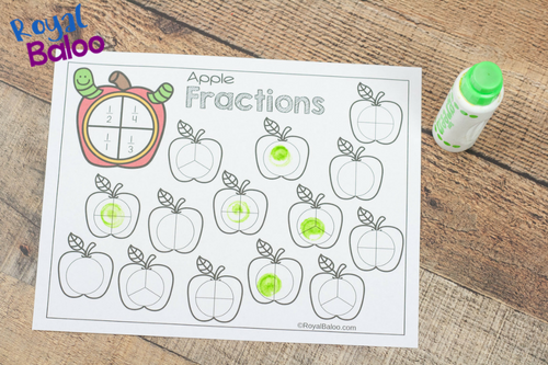 Make learning fractions with these fun apple fractions pages. Fractions can be a game for kids so they'll want to learn and practice more.