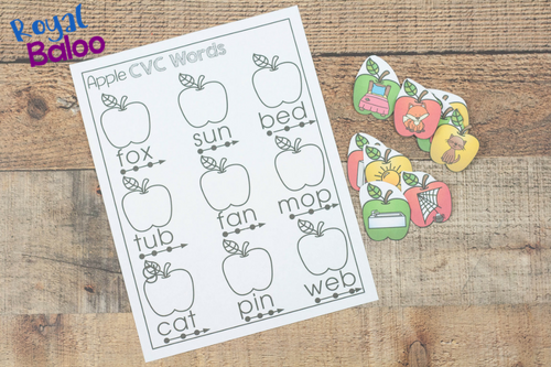 Reading fluency and practice can be fun with a great theme. These apple themed CVC words are great for practicing reading with a fun, hands on approach.