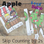 Apple Skip Counting by 2s Puzzles