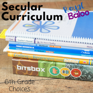 Find many options for 6th grade curriculum with this 6th grade secular homeschool curriculum post! Many choices for a great homeschool year.