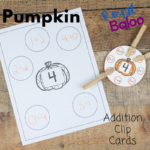 Pumpkin Addition Clip Cards for Fun Math Practice