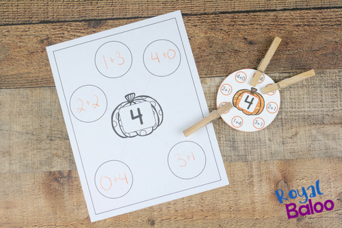 Addition facts are more fun with clip cards and a good theme. These pumpkin addition clip cards are perfect for addition practice.