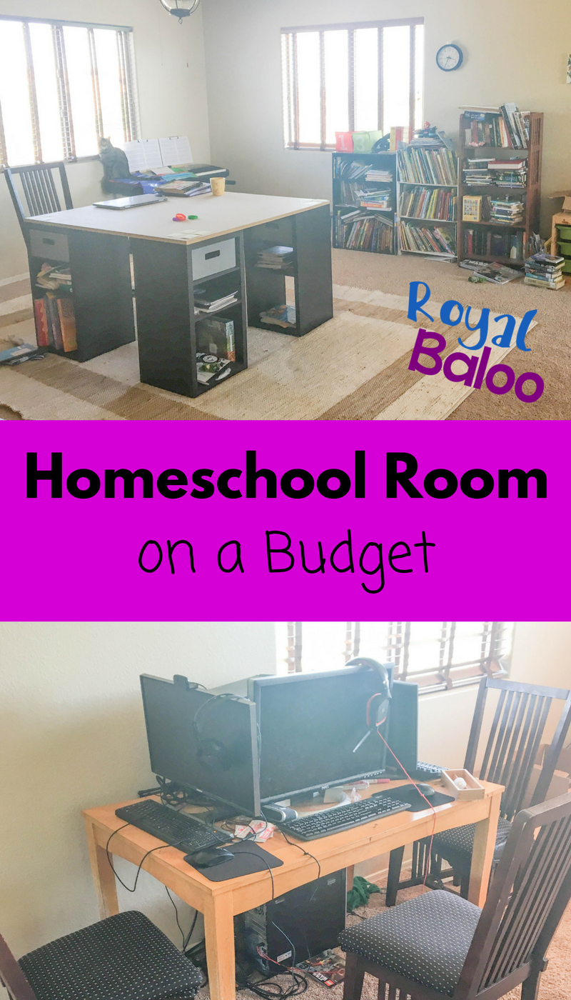 Come check out our homeschool room on a budget and perhaps get some inspiration for your own room! Homeschool rooms don't have to be expensive!