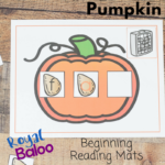 Pumpkin Beginning Reader Mats for Building Words
