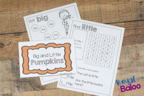 This fun pumpkin easy reader is great for kids starting to read. Work on a few sight words with a fun theme and cute booklet!