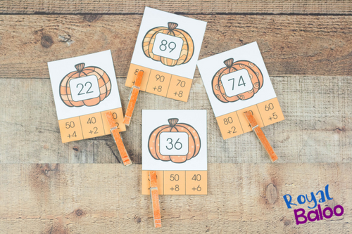 Practice place value with the fun pumpkin place value clip cards! Work on expanded form math with the adorable pumpkins! Place value and pumpkins!