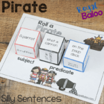 Roll a Silly Pirate Sentence – Reading and Writing Fun