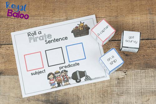 Reading and writing made fun with Pirate Silly Sentences! You can roll a sentence, laugh at the absurdity, and still be learning!