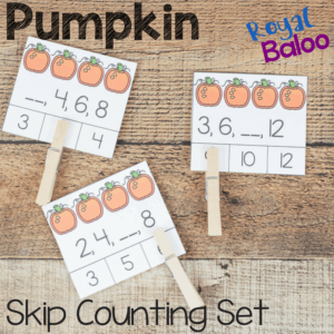Skip counting is a useful skill and practice is necessary! This pumpkin skip counting set is sure to entertain while working on great math skills!