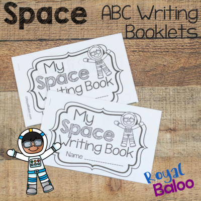 Space ABC Writing Booklets for Handwriting Practice
