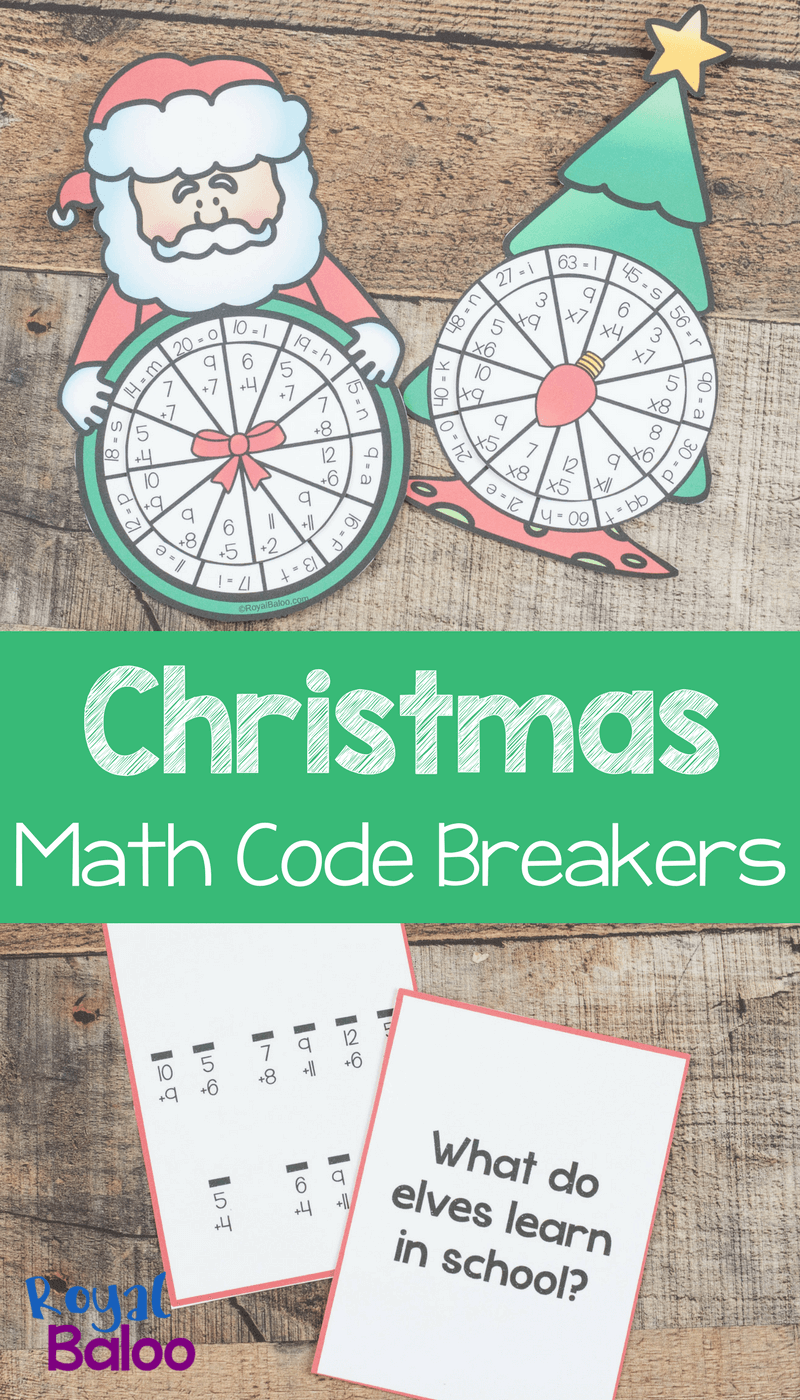 These Christmas code breakers are perfect for practicing a bit of addition or multiplication! Plus they are a fun and festive way to get some work done!