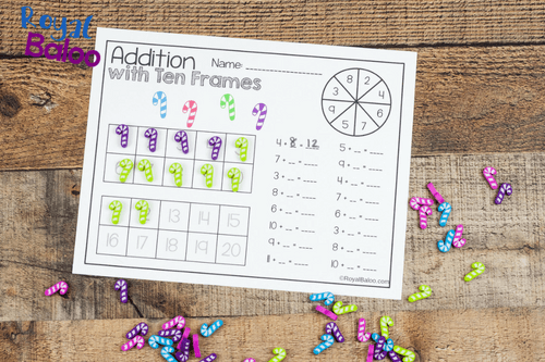 Use mini erasers with this fun Christmas mini eraser math set! Addition, skip counting, multiplication, fractions, and more math concepts!
