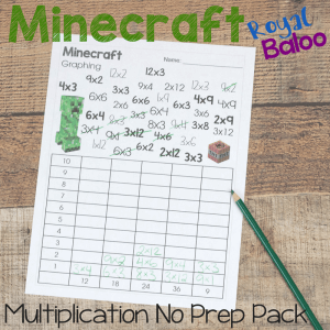 Minecraft No Prep Multiplication Pack For Fun Math Practice Royal Baloo