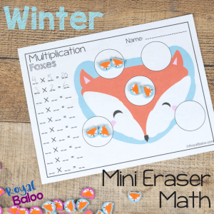 No Prep Winter Mini Eraser Math Pages