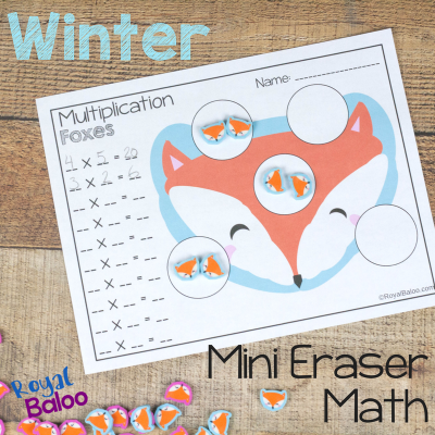 No Prep Winter Mini Eraser Math Pages