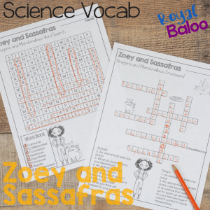 Keep your science vocabulary strong with this fun word search and crossword! Using the books Zoey and Sassafras, they cover some popular science topics for kids!