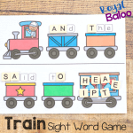 Train Sight Word Game – Great Reading Practice