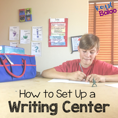 How to Make a Home Writing Center for Kids
