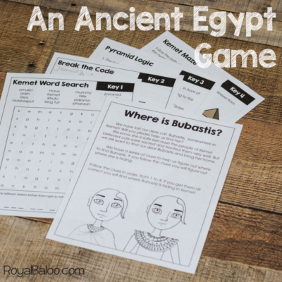 Ancient Egypt Escape Room Style Activity