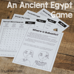 Ancient Egypt escape room square photo