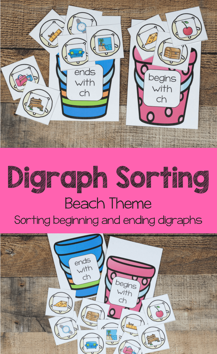 digraph sorting with a beach theme