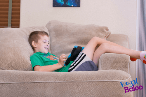 child on an ipad using Rosetta Stone Homeschool