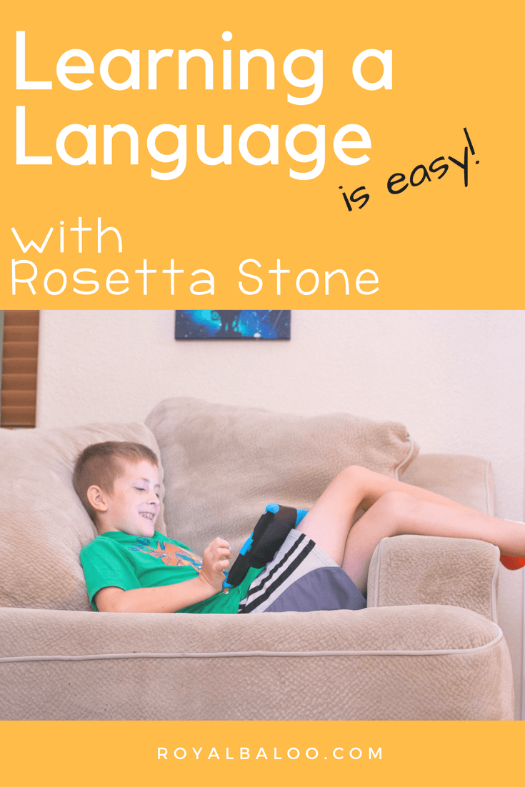 learning a language is easy with rosetta stone image