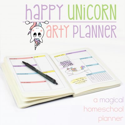 Unicorn Arty Planner – Homeschool Planners for Creative Planning
