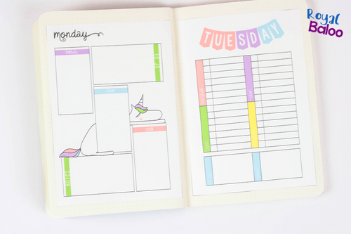 If you're ready for a new type of planner, a planner with a fun unicorn theme and based on bullet journal style, then I've got something for you! #bulletjournal #unicorn #homeschoolbujo #homeschoolplanner #secularhomeschool