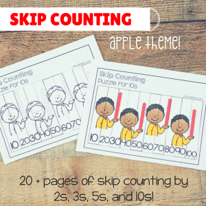 Apple Skip Counting – Interactive Set for Math