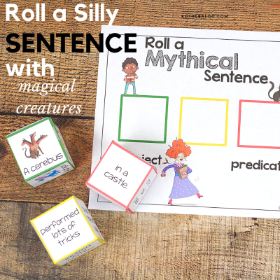 Roll a Silly Mythical Creature Sentence