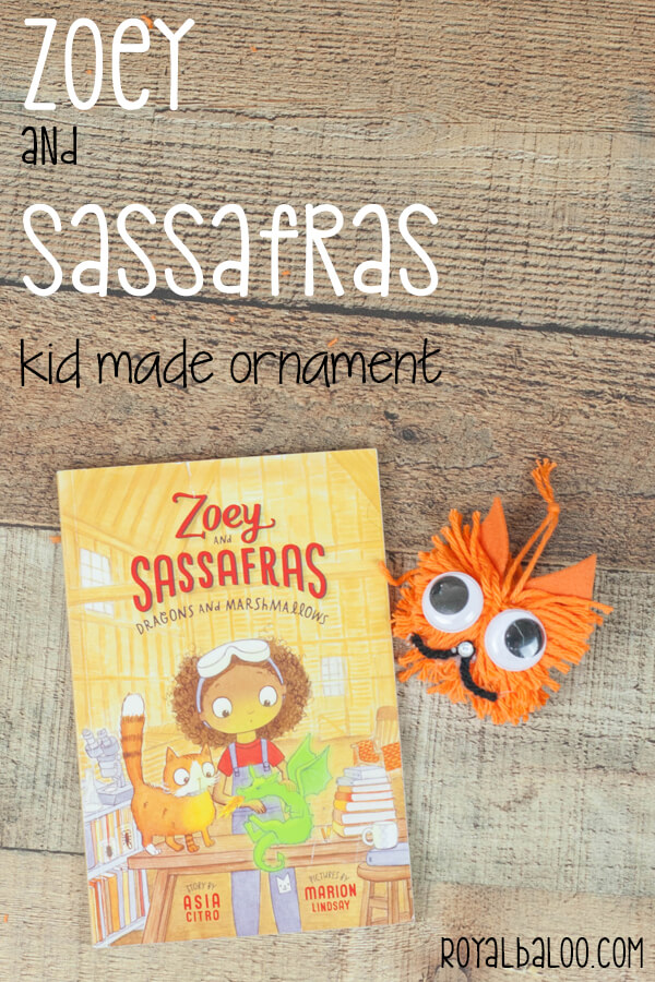 Decorate your book tree with this fun Zoey and Sassafras Kid Made Ornament! #KidMadeChristmas