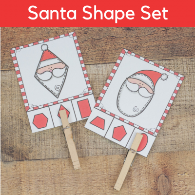 5 Santa Shape Activities for Preschoolers