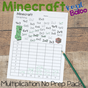 Minecraft Multiplication Pack