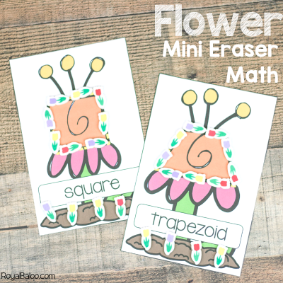 Flower Mini Eraser Math Pages