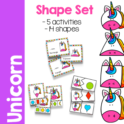Magical Unicorn Shape Set