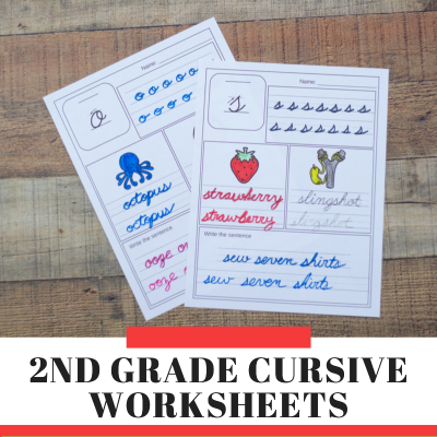 2nd Grade Cursive Writing Worksheets