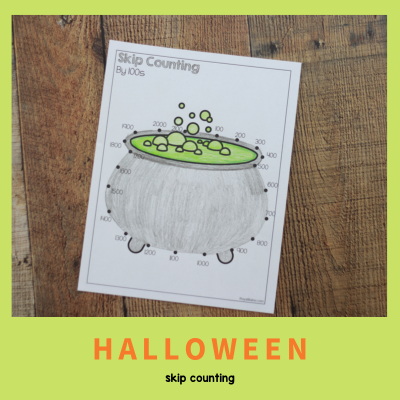 Skip Counting Dot to Dot – Halloween Theme