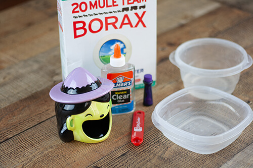 Slime is such a fun sensory activity for kids. Mix it up a bit with this fun witch slime!