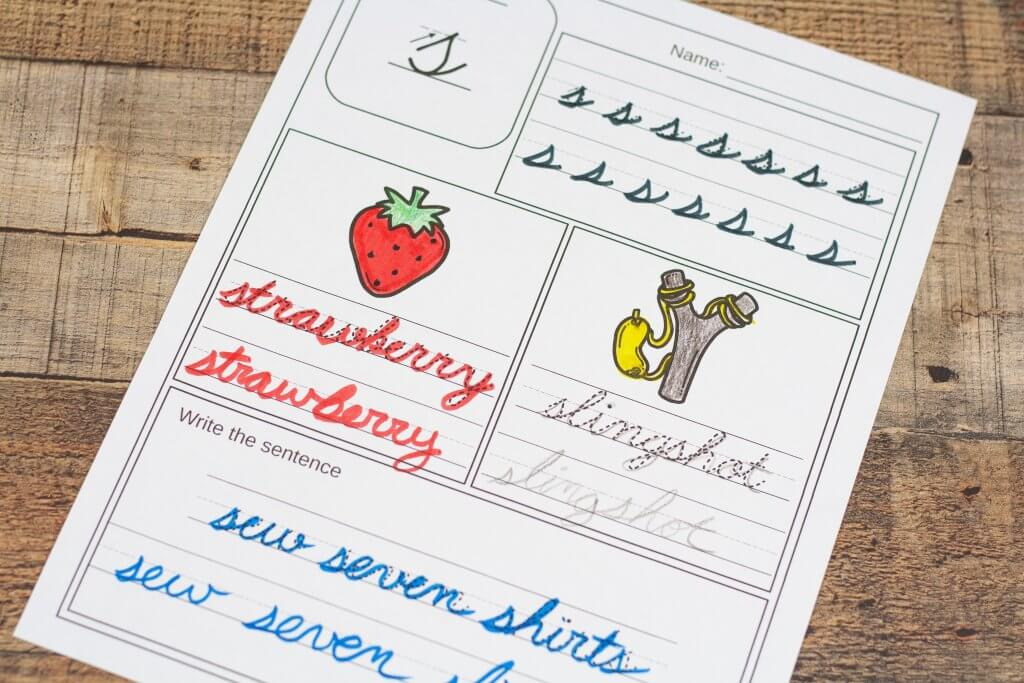 Seriously simple 2nd grade cursive writing worksheets. Great and easy cursive writing practice!