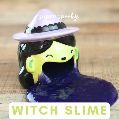 Witchy Slime for Spooky Sensory Fun
