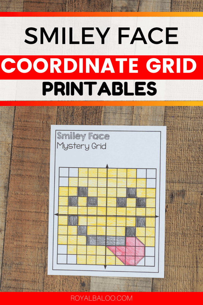 These printables are perfect for practicing plotting on a coordinate grid! Smiley face coordinate grid mystery pictures.