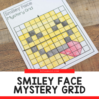 Smiley Face Mystery Coordinate Grid Printable Math Fun
