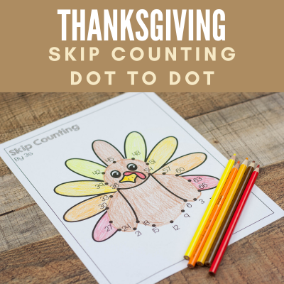 Skip Counting Dot to Dot for Thanksgiving