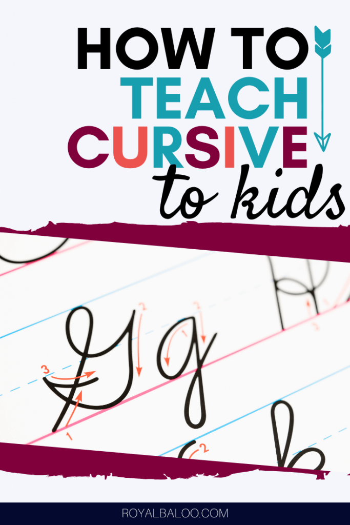 An easy step-by-step guide to teaching cursive to your kids!