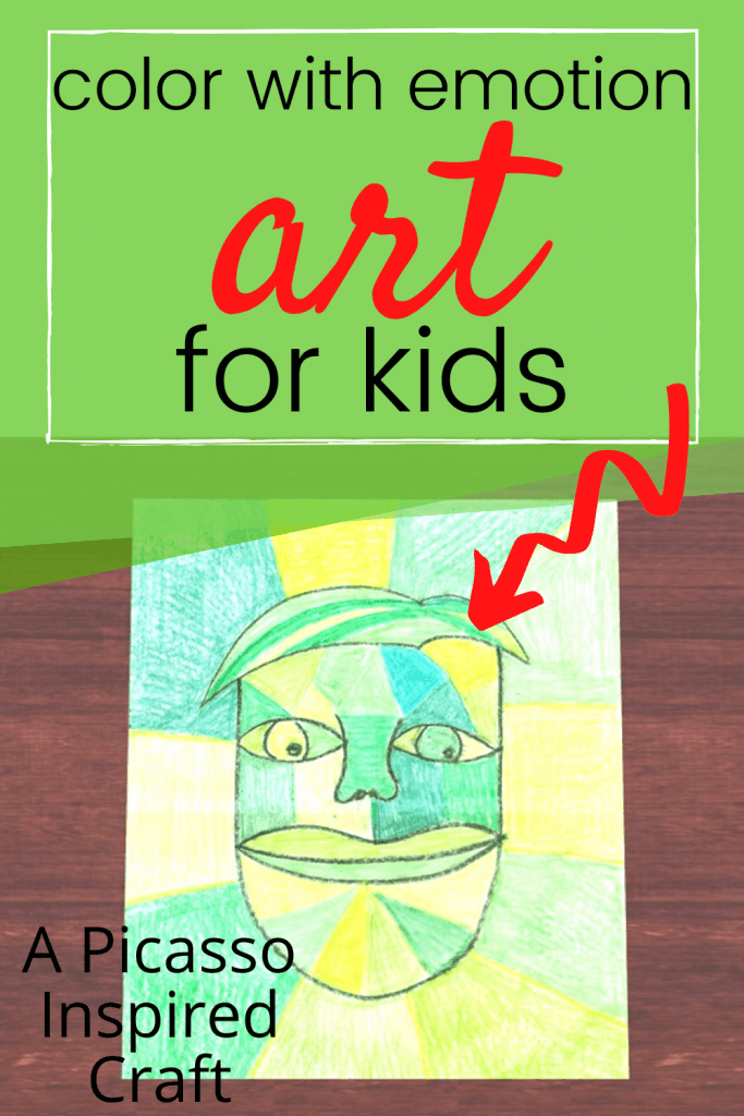 Evoke emotions in art by utilizing color. Get your kids creating art and learning from the masters - like Picasso!