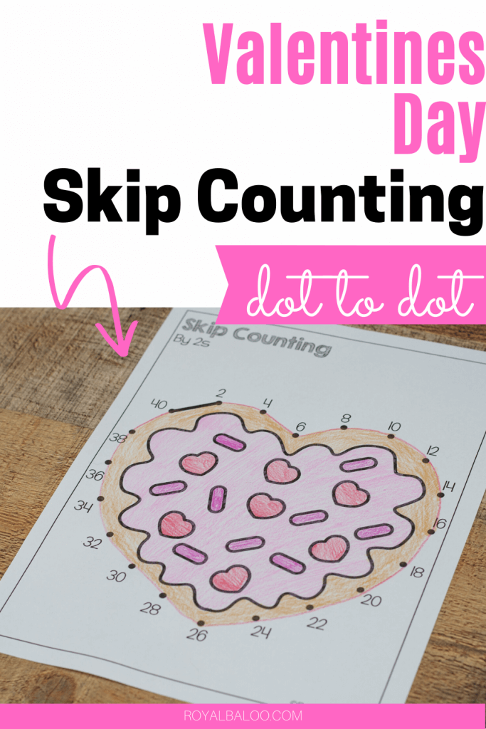 Practice skip counting with Valentines Day skip counting dot to dot printables. Prepare for addition and multiplication with fun skip counting practice.