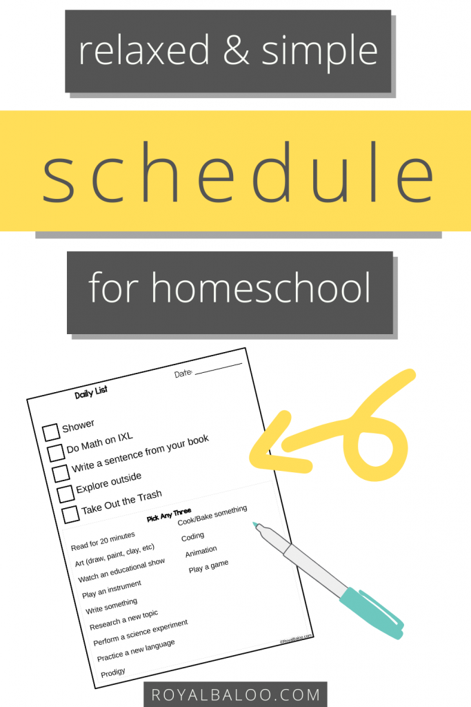 Make your homeschool schedule relaxed and simple! Check out this simple printable to organize your homeschool in a very independent and child-driven way.