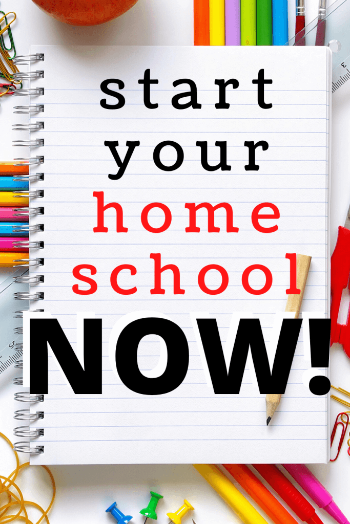 If you need a quick start to your homeschool, here is your guide! Get everything up and running in just a few hours. How to start homeschooling now!